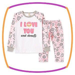 Pijama infantil estampa DONUTS