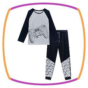 Pijama infantil de camiseta e calça jogger  CONTROLE