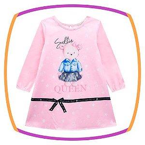 Vestido para bebê estampa urso