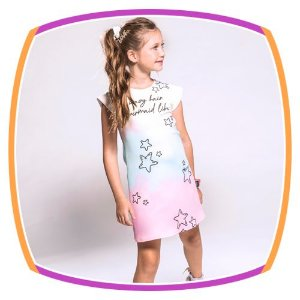 Vestido infantil estampado em tie dye