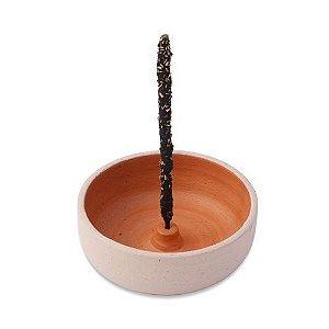 Incensário em Cerâmica Artesanal Tiê