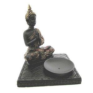 Incensário Buda Tibetano Artesanal (13cm)