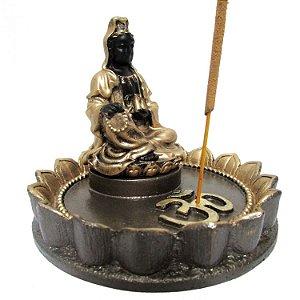 Incensário Kuanyn em Resina (14cm)