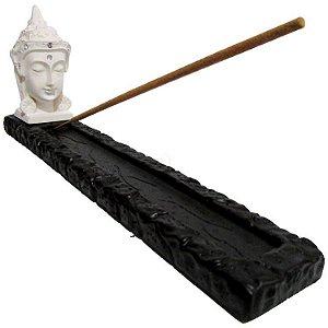 Incensário Canaleta Buda com Cristais (23cm)