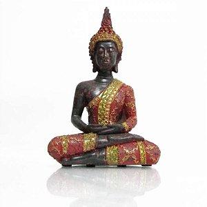 Buda Tailandês Meditando em Resina (18cm)