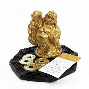 Buda Ritual da Riqueza com Moedas (6cm)