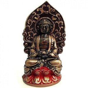 Buda Meditando na Flor de Lótus (12cm)