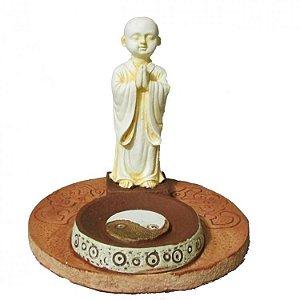 Incensário Monge Yin Yang Saudando (10cm)