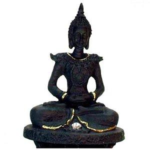 Buda Tibetano em Resina com Cristais (8cm)