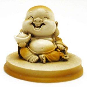 Incensário Buda Sorrindo em Resina (5cm)