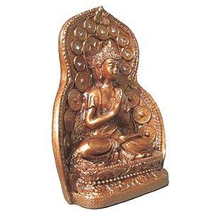 Buda Reverenciando com Portal e Cristais (11cm)