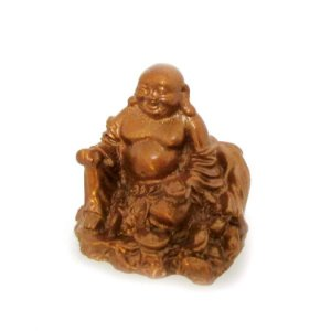 Mini Buda da Prosperidade Dourado (4,5cm)