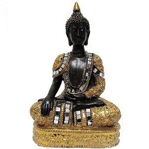 Buda Hindu Tailandês com Espelhos (15cm)