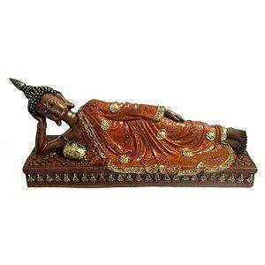 Buda Tailandês em Resina com Cristais (26cm)