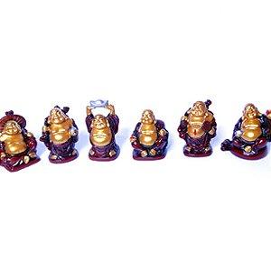 Jogo de 6 Budas em Pé P 5cm