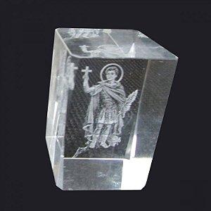 Cubo de Cristal Santo Expedito (6cm)