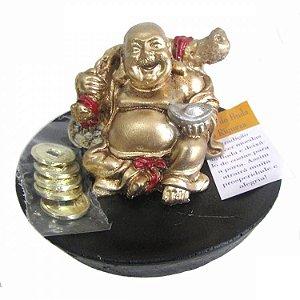 Buda Ritual da Riqueza com Moedas (8cm)
