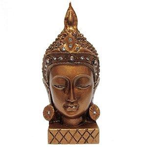 Buda Cabeça em Resina com Cristais (13cm)