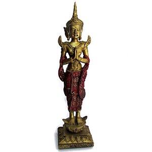 Estátua em Resina Buda Tibetano em Pé (19cm)