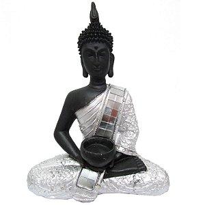 Buda Sidarta com Castiçal (26cm)