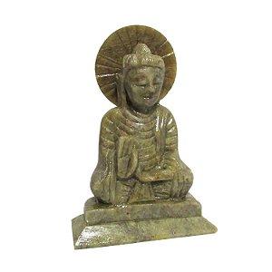 Estátua de Buda em Pedra Sabão (10cm)