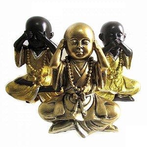 Trio de Monges Não Vejo, Não Ouço, Não Falo (17cm)