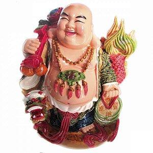 Buda da Alegria com Dragão (18cm)