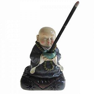 Incensário Monge Meditando em Resina (11cm)