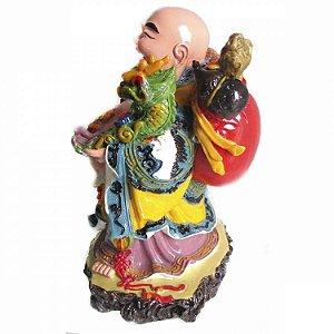 Buda da Alegria com Dragão em Resina (22cm)
