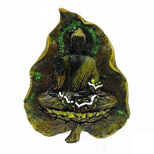 Buda na Folha para Pendurar em Resina (18cm)