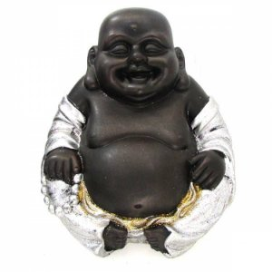 Buda da Alegria Prata com Glitter (26cm)