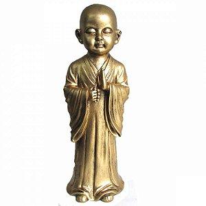 Monge em Pé Dourado (33cm)