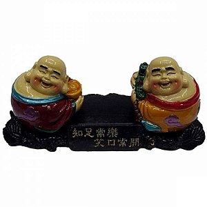 Dupla de Budas da Alegria (13cm)