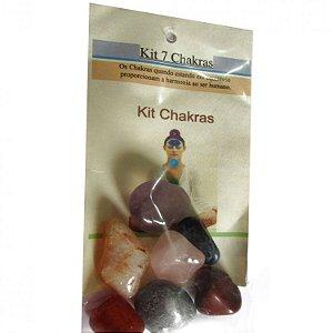 Kit com Pedras dos Sete Chakras (7 Tipos de Pedras)