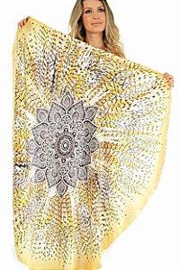 Canga Mandala Colorida para Yoga e Decoração (136cm)