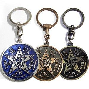 Chaveiro Tetragrammaton 5cm - 3 Opções de Cores