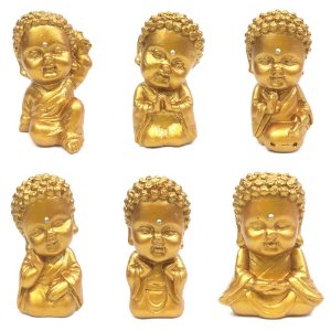 Conjunto Buda Baby com 6 Modelos (Dourado)