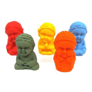 Conjunto Mini Buda Baby com 5 Modelos (4cm)