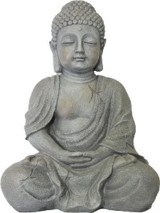 Buda Cinza em Resina (37cm)
