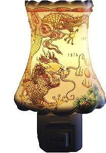 Aromatizador Elétrico Dragões Dourados em Porcelana