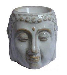 Aromatizador Rechaud Cabeça de Buda em Cerâmica