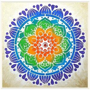 Quadro Mandala 7 Chakras Pintura em Tela (30cm)