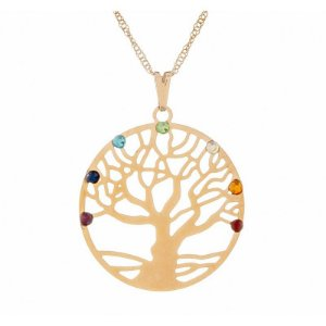 Gargantilha Árvore da Vida com Pedras dos Sete Chakras (30mm)