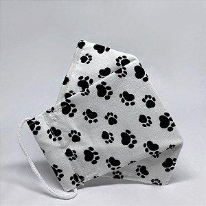 Máscara 3D Infantil Branca de Patinhas