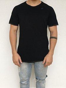 T-shirt Longline Raglan Preta