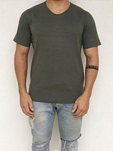 Camiseta Longline Verde Musgo