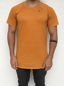 T-shirt Longline Raglan Mostarda