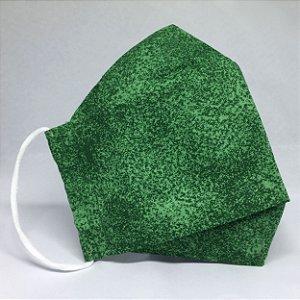 Máscara 3D de Tecido Poeirinha Verde - Modelo Tarja
