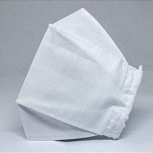 Máscara de Tecido 3D Branca Tripla Camada - Modelo Tarja