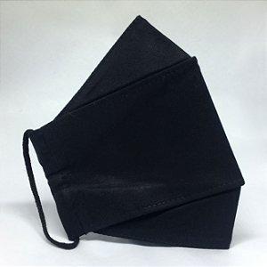 KIT de 5 Máscaras de Tecido 3D Preto
